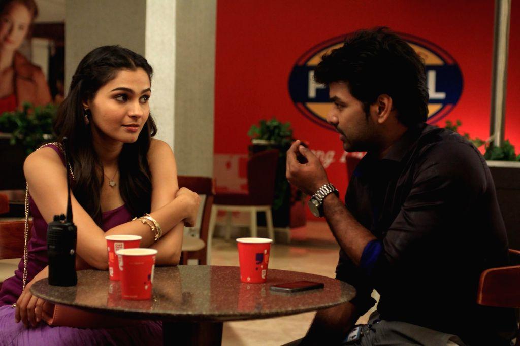 Stills from upcoming Tamil film `valiyavan`.