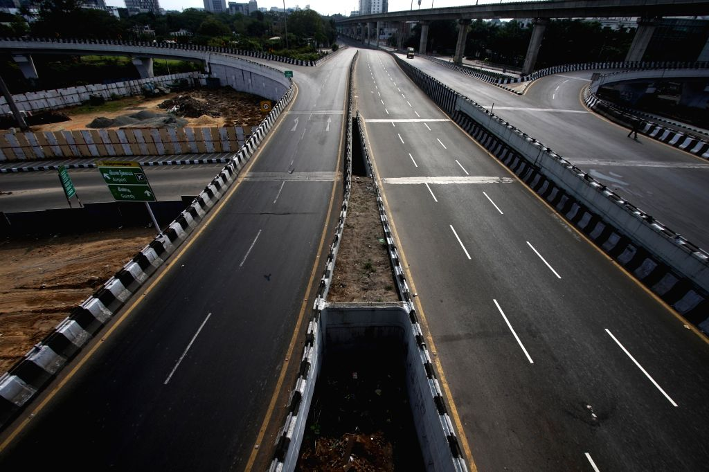 Chennai streets bear a deserted look during nationwide shutdown - Janata Curfew - called by Prime Minister Narendra Modi as a measure to contain the spread of COVID-19, on March 22, 2020. - Narendra Modi