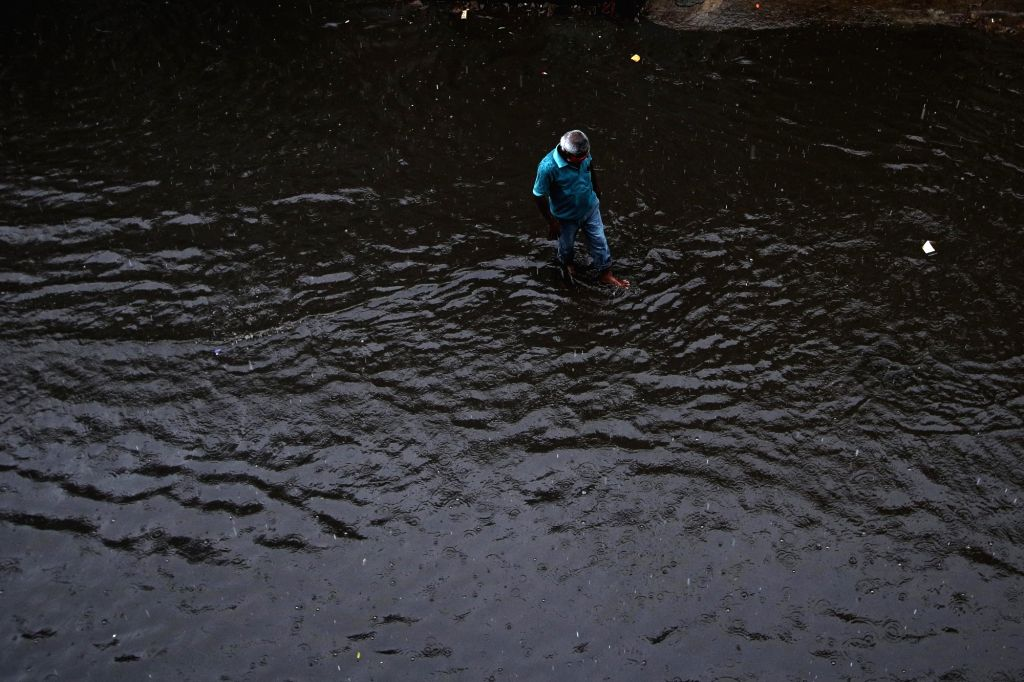 Chennai streets submerged under water after heavy rains lashed the city on Oct 20, 2020.