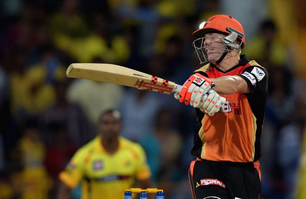 Sunrisers Hyderabad (SRH) captain David Warner in action during an IPL-2015 match between Chennai Super Kings (CSK) and Sunrisers Hyderabad (SRH) at MA Chidambaram Stadium, in Chennai, on ... - David Warner