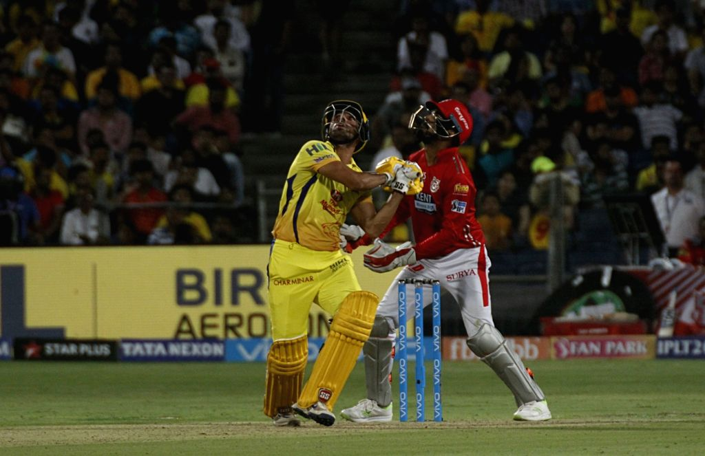 Chennai Super Kings' Deepak Chahar in action during an IPL 2018 match between Chennai Super Kings and Kings XI Punjab at Maharashtra Cricket Association Stadium in Pune on May 20, 2018.