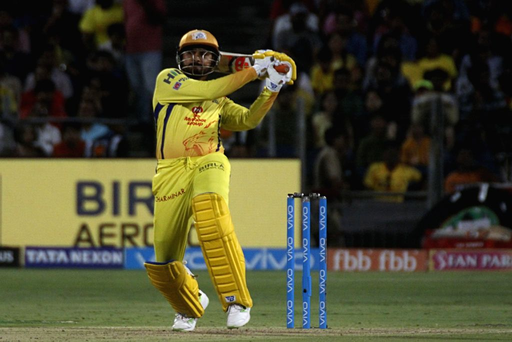 Chennai Super Kings' Harbhajan Singh in action during an IPL 2018 match between Chennai Super Kings and Kings XI Punjab at Maharashtra Cricket Association Stadium in Pune on May 20, 2018. - Harbhajan Singh