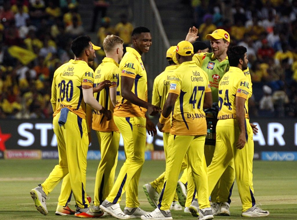 Chennai Super Kings' Lungi Ngidi celebrates fall of Lokesh Rahul's wicket during an IPL 2018 match between Chennai Super Kings and Kings XI Punjab at Maharashtra Cricket Association Stadium in ... - Lokesh Rahul