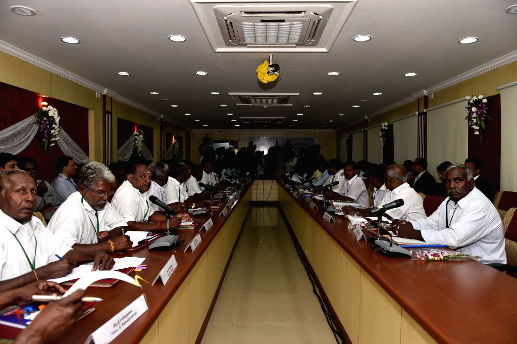 The representatives of the fishermen from India and Sri Lanka during a meeting in Chennai on March 24, 2015.