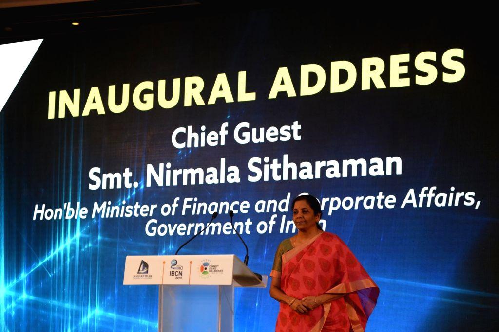 Chennai: Union Finance and Corporate Affairs Minister Nirmala Sitharaman at the inaugural session of International Business Conference of Nagarathars, in Chennai on July 20, 2019. (Photo: IANS) - Nirmala Sitharaman