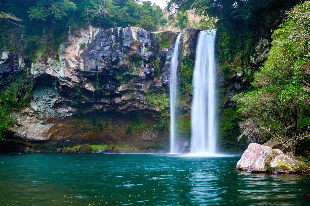 Cheonjiyeon falls, Jeju Island, South Korea