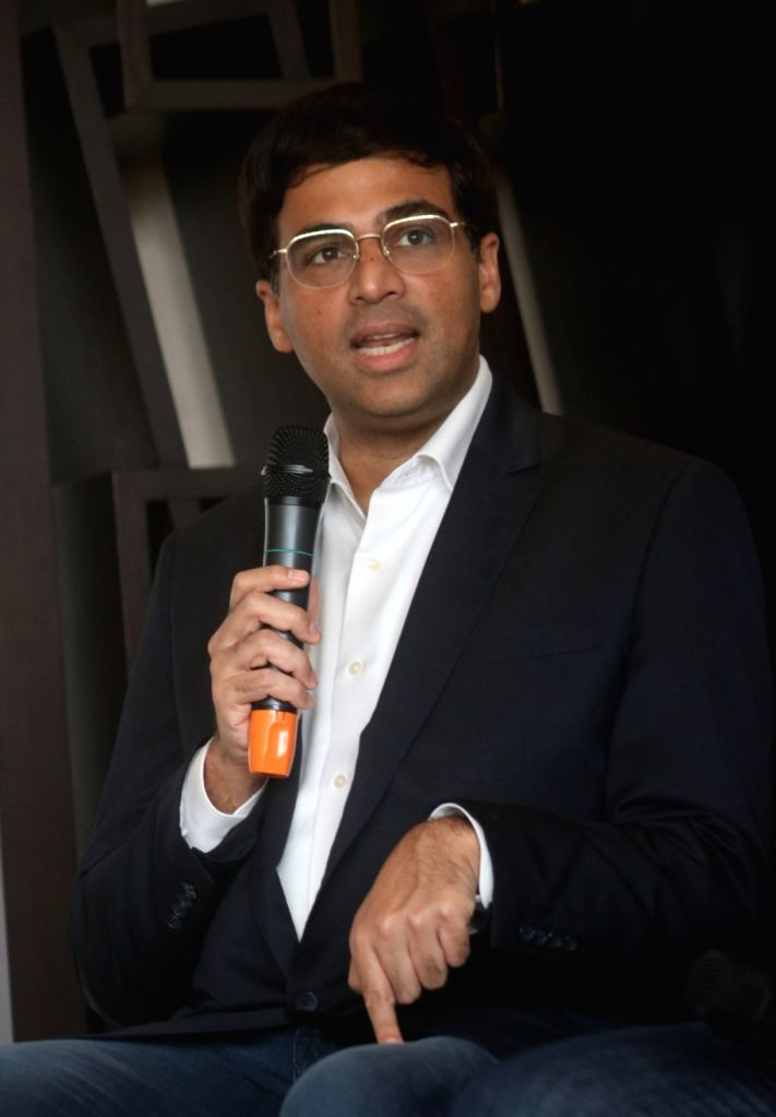 Chess legend Viswanathan Anand during a press conference in New Delhi on Nov 2, 2017.