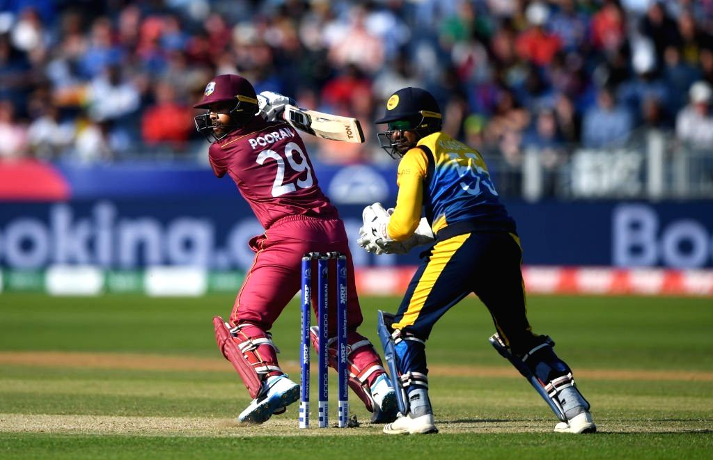 Chester-le-Street: West Indies' Nicholas Pooran in action during the 39th match of 2019 World Cup between Sri Lanka and West Indies at Riverside Ground in Chester-le-Street, England on July 1, 2019. (Photo Credit: Twitter/@ICC)