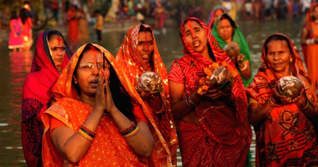 Chhath Puja celebrations  underway at India Gate in New Delhi, on Nov 17, 2015.