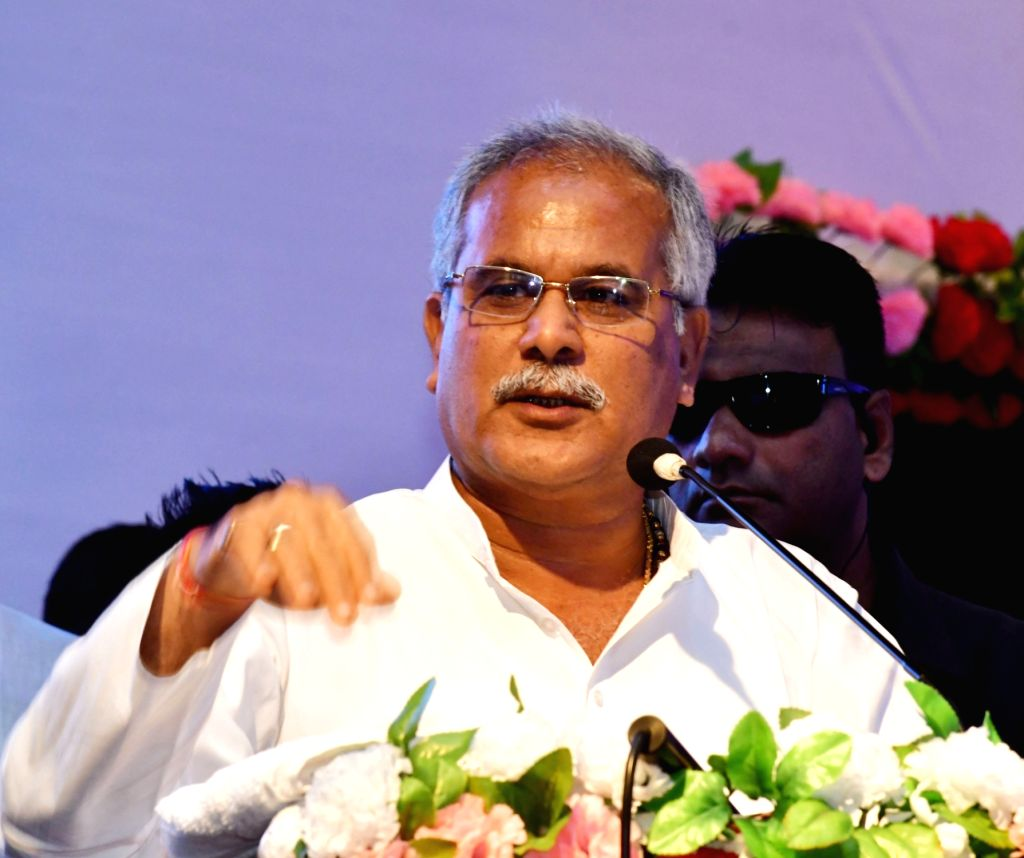 Chhattisgarh Chief Minister Bhupesh Baghel addresses during a Congress programme in Patna on Sep 26, 2019. - Bhupesh Baghel