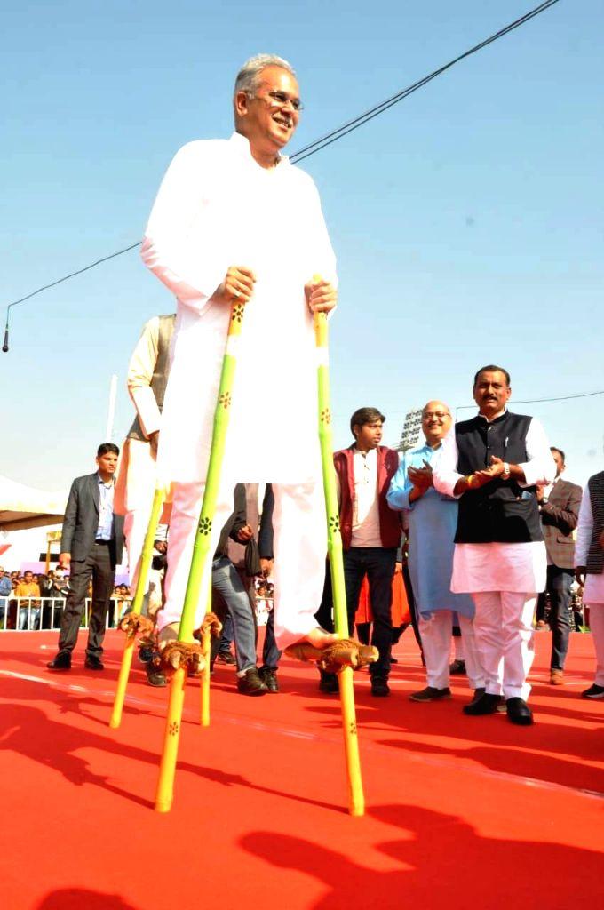 Chhattisgarh Chief Minister Bhupesh Baghel participates during the Chhattisgarh Yuva Mahotsav 2020 in Raipur on Jan 12, 2020. - Bhupesh Baghel
