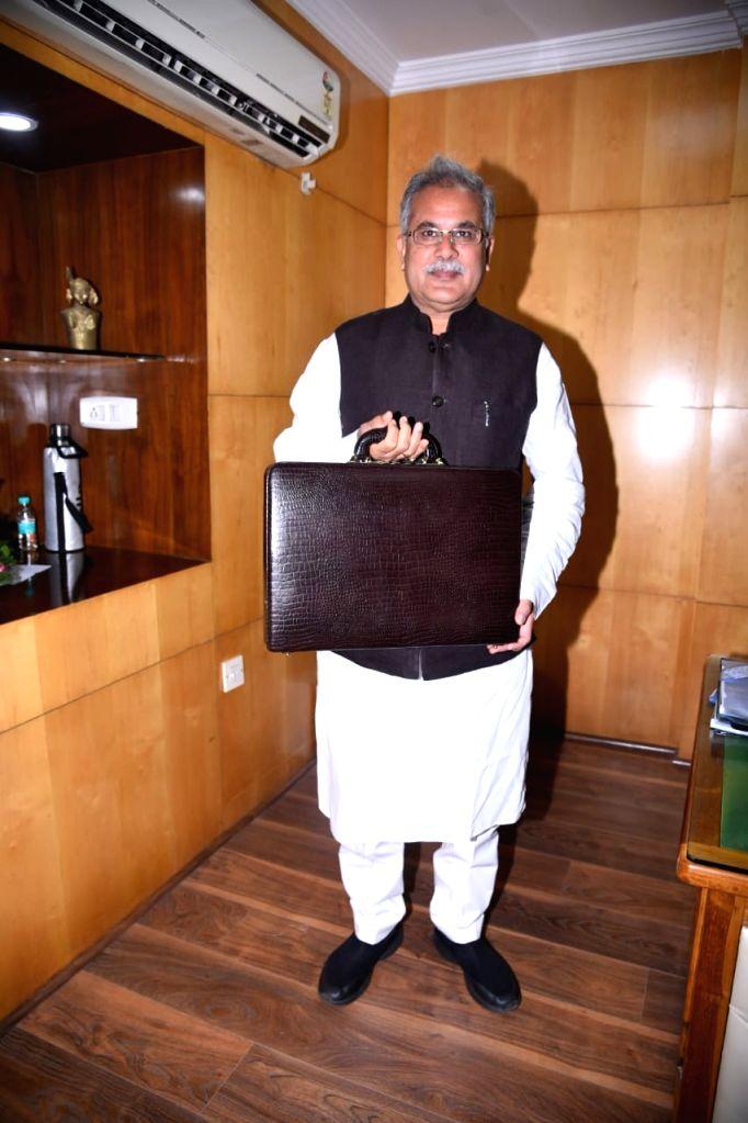 Chhattisgarh Chief Minister Bhupesh Baghel before presenting 2019-20 state budget in Raipur on Feb 8, 2019. - Bhupesh Baghel