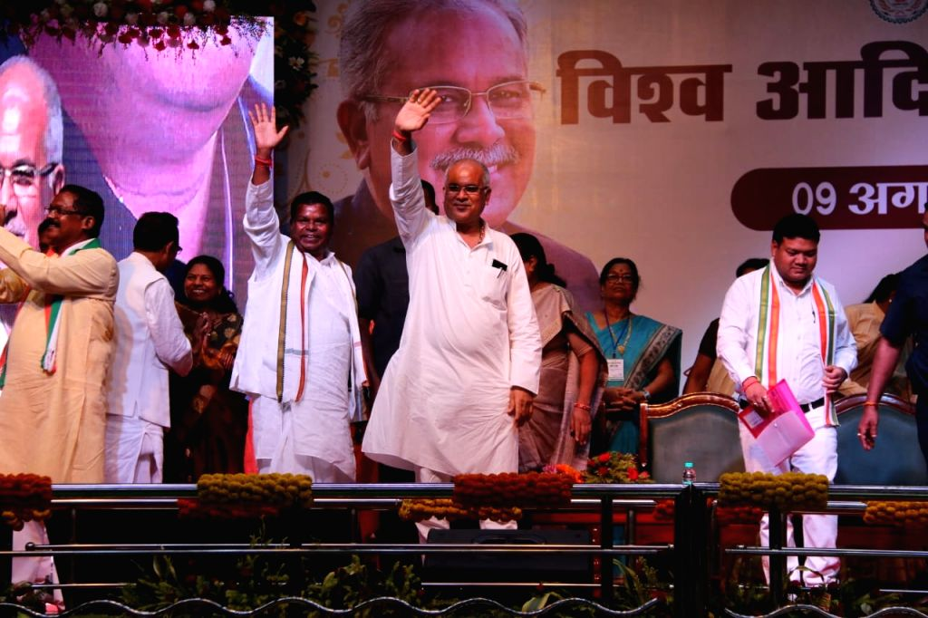 Chhattisgarh Chief Minister Bhupesh Baghel during a programme organised on the occasion of International Day of the World's Indigenous People, in Raipur on Aug 9, 2019. - Bhupesh Baghel