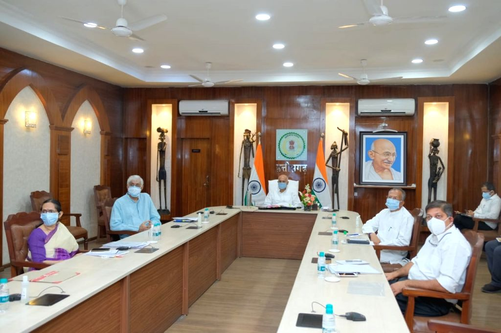 Chhattisgarh Chief Minister Bhupesh Baghel is participating in the virtual meeting of chief ministers with Prime Minister Narendra Modi. The meeting will review the arrangements  and progress of ... - Bhupesh Baghel, Narendra Modi and Amit Shah