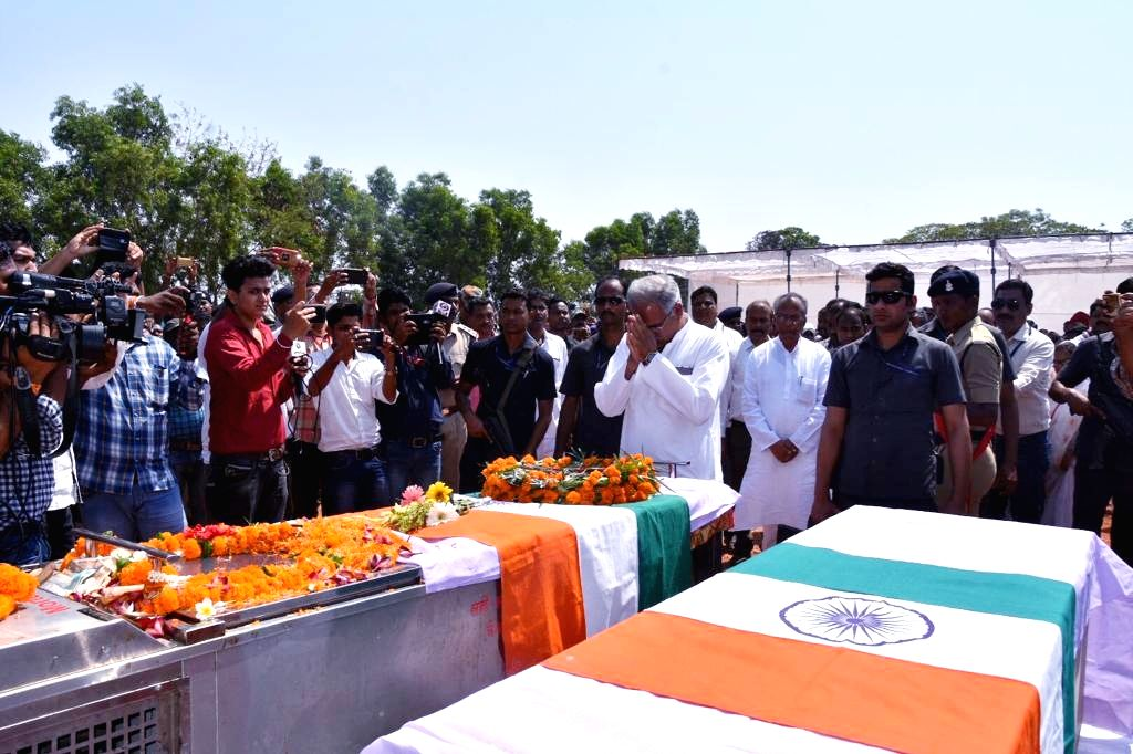 Chhattisgarh Chief Minister Bhupesh Baghel pays homage to late BJP MLA Bhima Mandavi, who was killed along with four policemen on Tuesday evening as Maoists carried out a deadly attack on his ... - Bhupesh Baghel