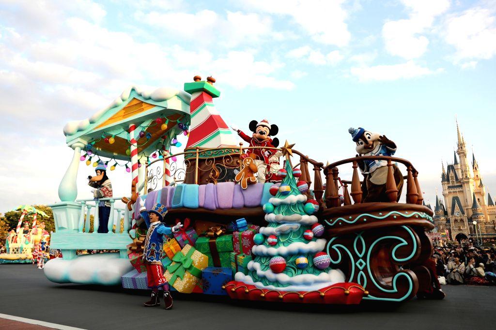 Disney Christmas Parade.Japan Chiba Disney Christmas Parade