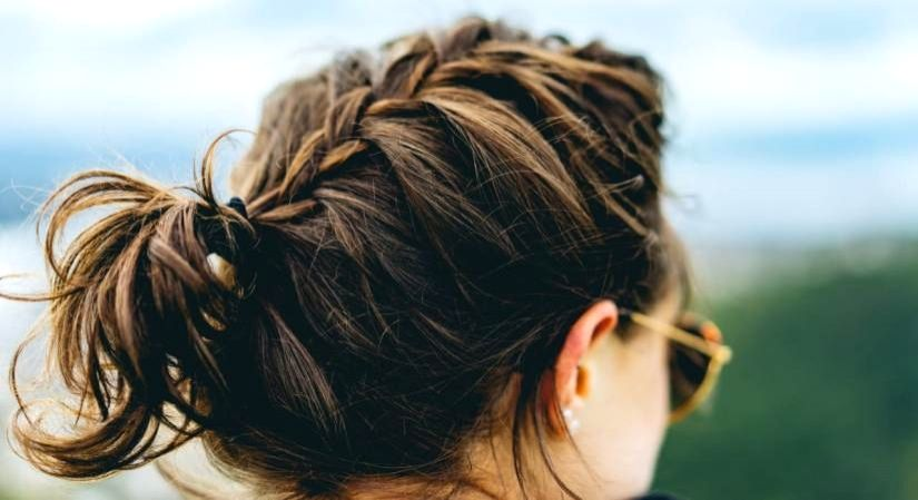 Chic hairstyle to boost morale.