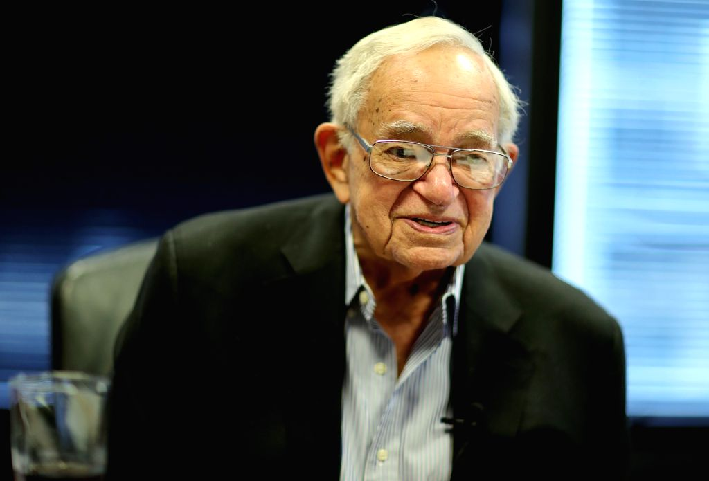 "CHICAGO, Aug. 12, 2019 - Leo Melamed, chairman emeritus of global markets company CME Group, receives an interview with Xinhua in Chicago, the United States, on July 23, 2019. ""I am basically an ..."