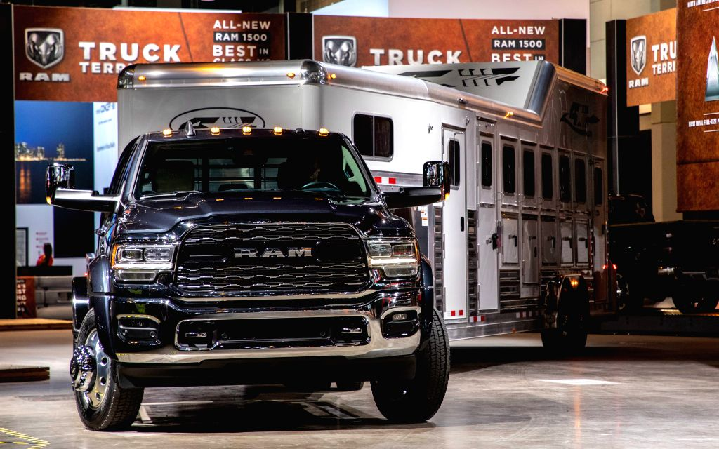 CHICAGO, Feb. 8, 2019 - The Fiat Chrysler Automobiles Ram Trucks Chassis 5500 is seen during the 2019 Chicago Auto Show Media Preview at McCormick Place in Chicago, the United States, on Feb. 7, ...