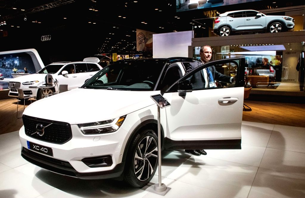 CHICAGO, Feb. 9, 2018 - Photo taken on Feb. 8, 2018 shows a Volvo XC40 at the Chicago Auto Show, the United States. The annual Chicago Auto Show entered its first day of media preview on Thursday.