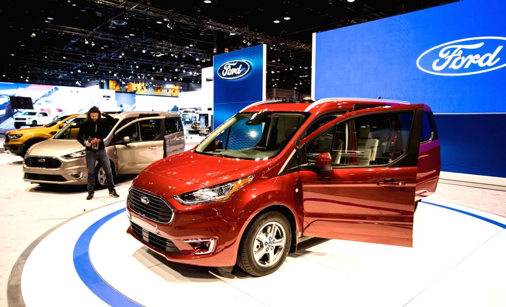 CHICAGO, Feb. 9, 2018 - Photo taken on Feb. 8, 2018 shows a Ford Transit Connect at the Chicago Auto Show, the United States. The annual Chicago Auto Show entered its first day of media preview on ...