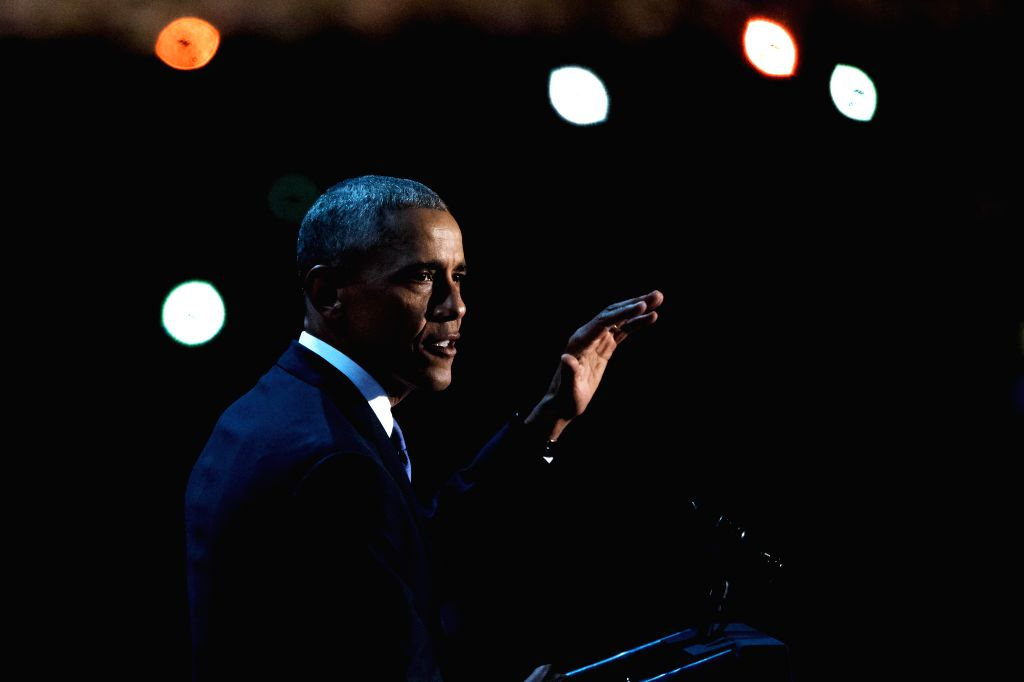 CHICAGO, Jan. 11, 2017 - U.S. President Barack Obama delivers his farewell address in Chicago, Illinois, United States of America on Jan, 10, 2017.