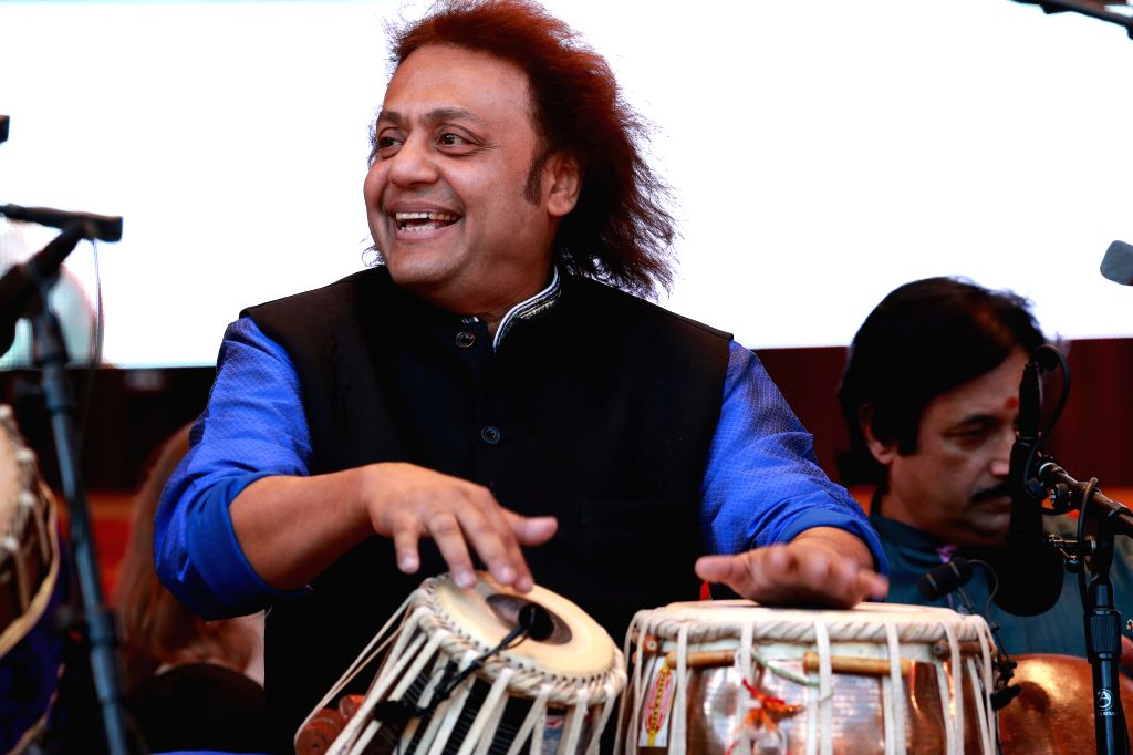 CHICAGO, Sept. 10, 2017 - Indian tabla player Tanmoy Bose performs during the annual World Music Festival in Chicago, the United States, on Sept. 9, 2017. - Tanmoy Bose
