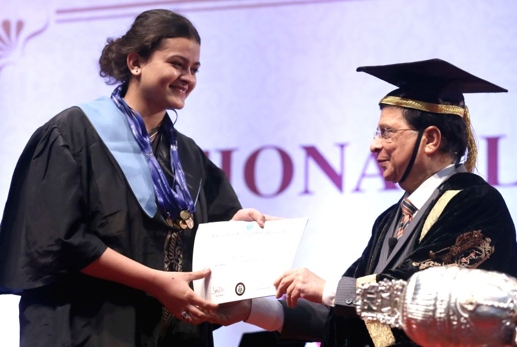 Chief Chief Justice of India Dipak Misra at the annual convocation of National Law School of India University (NLSIU) held at Gandhi Krishi Vignana Kendra (GKVK), in Bengaluru, on Sept 16, ...