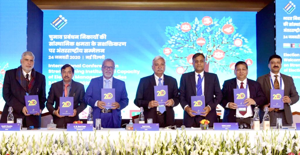 """Chief Election Commissioner (CEC) Sunil Arora releases the """"ICT 2020"""" - a compendium of 20 Apps for Elections - at a programme in New Delhi on Jan 24, 2020. Also seen Election ... - Sunil Arora"""
