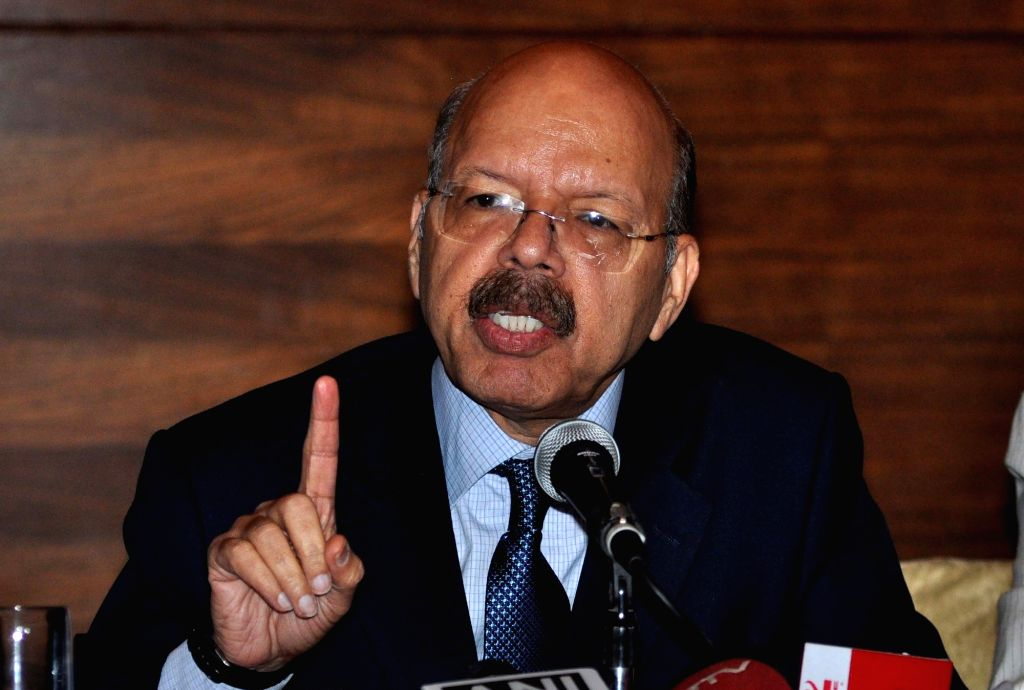Chief Election Commissioner of India Nasim Zaidi addresses a press conference in Kolkata, on April 14, 2016.