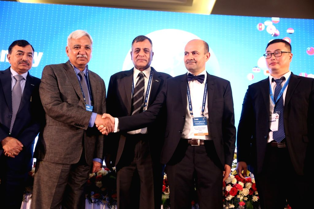 Chief Election Commissioner of India Sunil Arora and Advisor, Permanent Election Authority of Romania (Outgoing Chair of AWEB) Ion Mincu Radulescu at the 4th General Assembly of ... - Sunil Arora