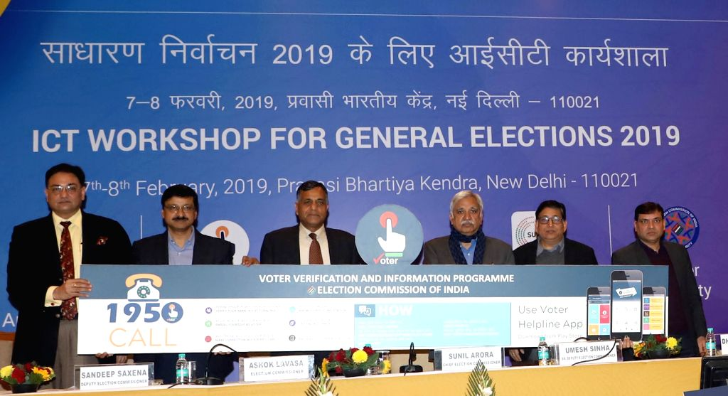 Chief Election Commissioner Sunil Arora along with Election Commissioner Ashok Lavasa, Senior Deputy Election Commissioner Umesh Sinha and other dignitaries, launches the Voter Helpline ...