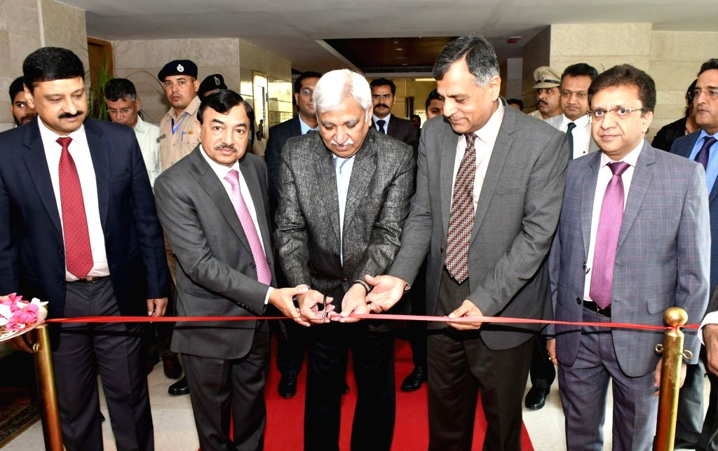"""Chief Election Commissioner Sunil Arora and Election Commissioners Ashok Lavasa and Sushil Chandra inaugurate the state-level exhibition organised under the """"Systematic Voter ..."""