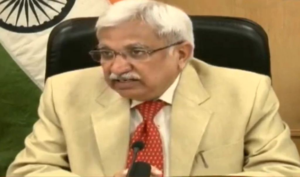 Chief Election Commissioner Sunil Arora briefs the media on Maharashtra and  Haryana state Assembly elections, in New Delhi on Sep 21, 2019.