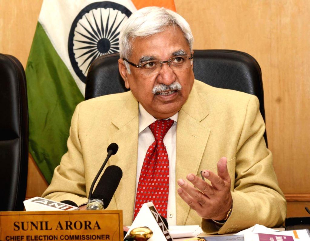 Chief Election Commissioner Sunil Arora . (Photo: IANS/PIB)