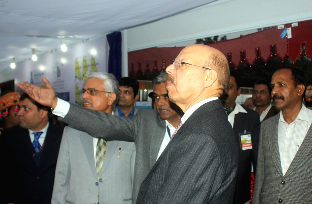 Chief Election Commissioner Syed Nasim Ahmad Zaidi visits Matdaata Mahotsav 2016 at Central; Park in New Delhi on Jan 14, 2016.