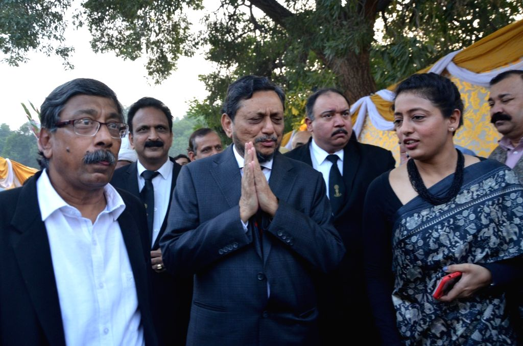 Chief Justice of India-designate S.A. Bobde arrives at the farewell programme of Outgoing Chief Justice of India (CJI) Ranjan Gogoi organised on his last working day at the Supreme Court, ...