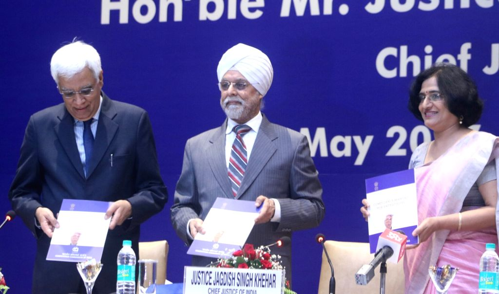 Chief Justice of India Justice Jagdish Singh Khehar at the Competition Commission of India Annual Day Lecture 2017 in New Delhi on May 20, 2017. - Jagdish Singh Khehar