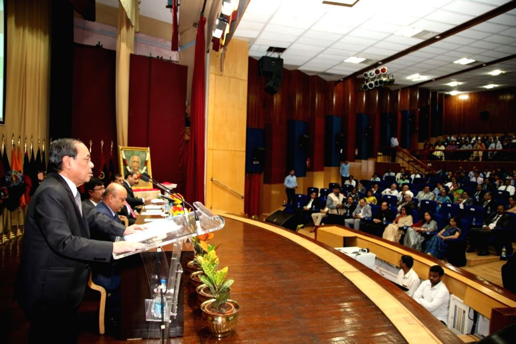 Chief Justice of India Ranjan Gogoi delivers Sardar Patel Memorial lecture at National Police Academy in Hyderabad on Aug 10, 2019. - Sardar Patel Memorial