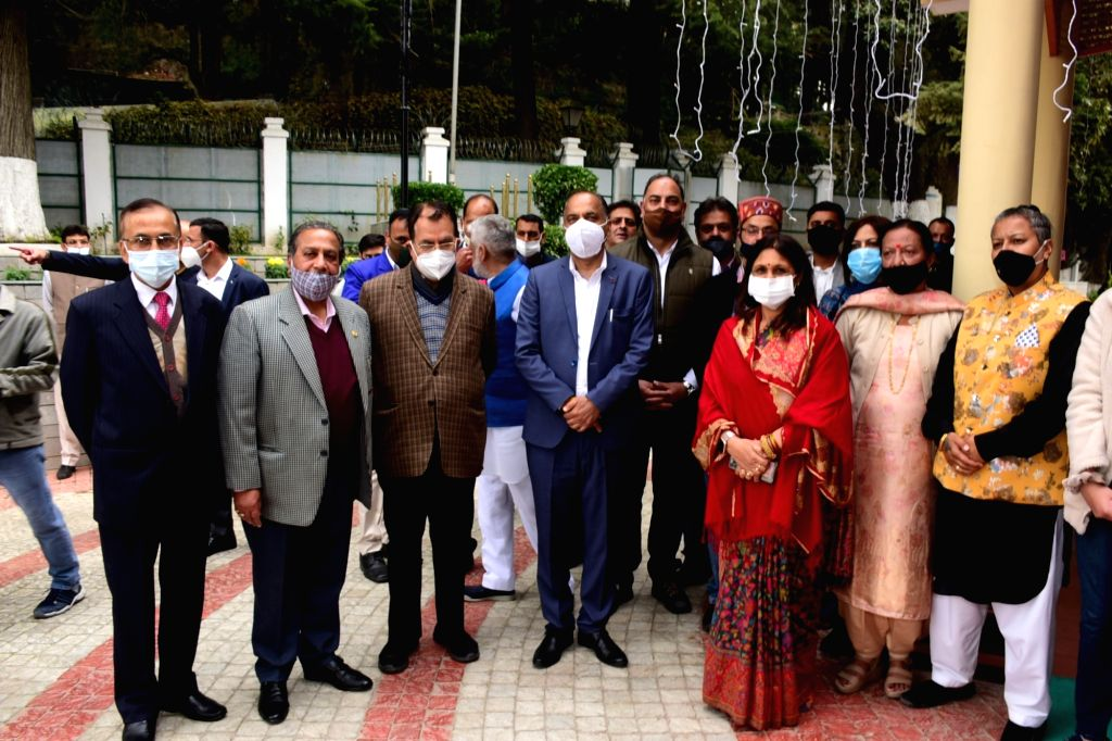 Chief Minister Jai Ram Thakur celebrated the festival of Diwali with the people of the State at his official residence Oak Over in Shimla on November 14, 2020. - Jai Ram Thakur