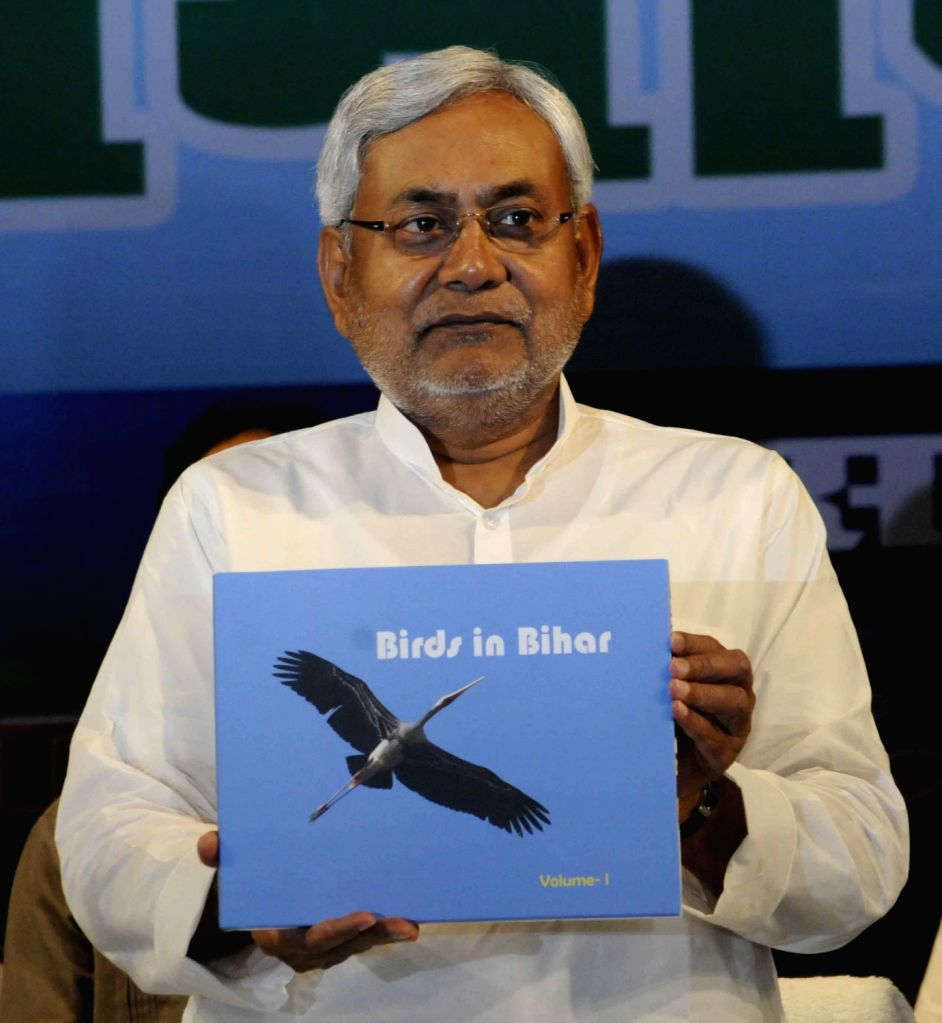 Chief Minister of Bihar Nitish Kumar at a function in Patna on August 14, 2013. (Photo::: IANS)