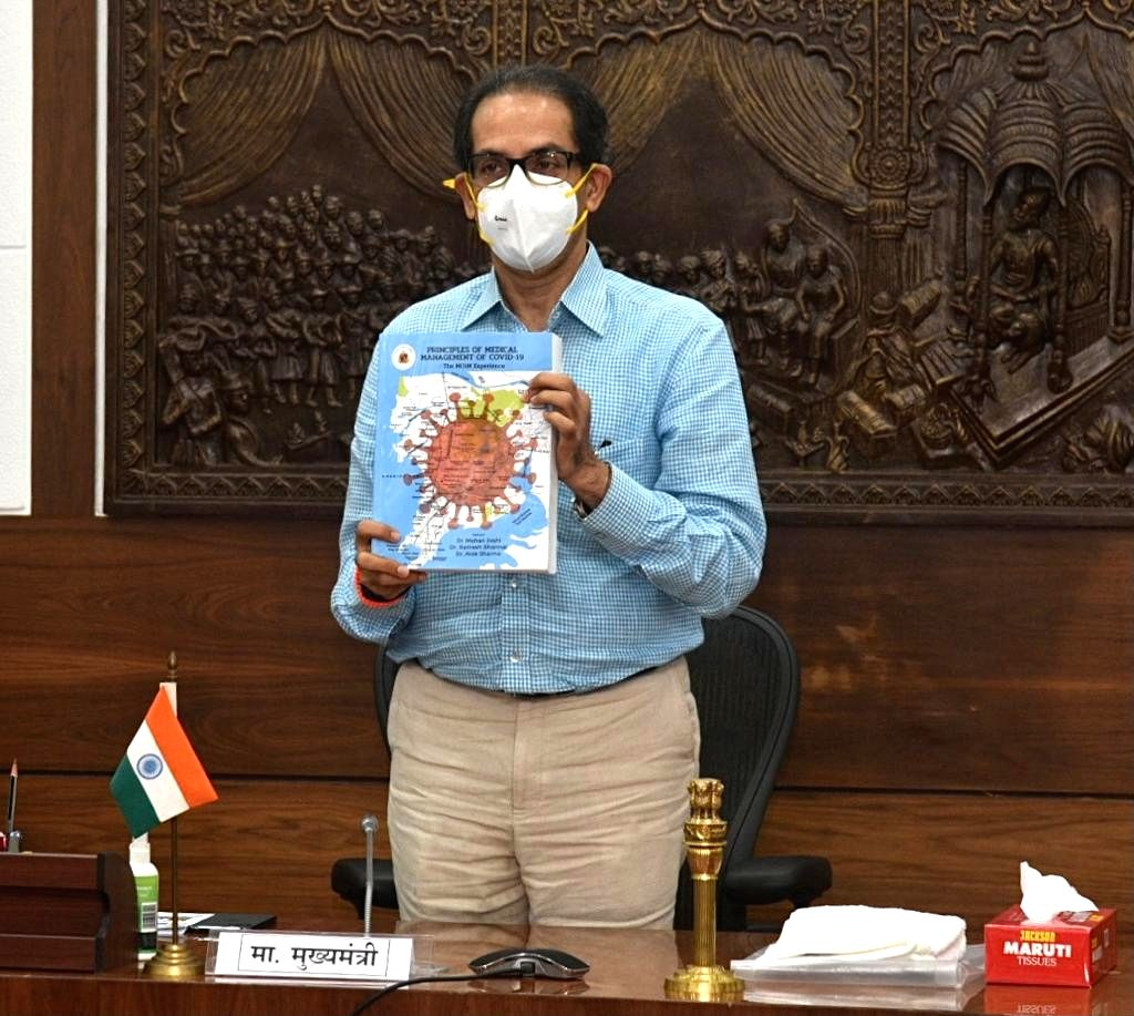 """Chief Minister Uddhav Thackeray on Friday released a book, """"MEDICAL MANAGEMENT OF COVID-19 - THE MCGM EXPERIENCE - Uddhav Thackeray"""