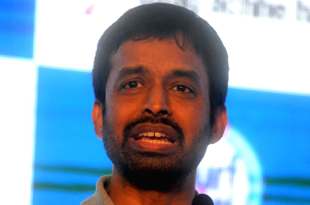 Chief National Coach of Indian Badminton team, P. Gopichand during HaarKoHarao Campaign in Mumbai on Nov 30, 2017.