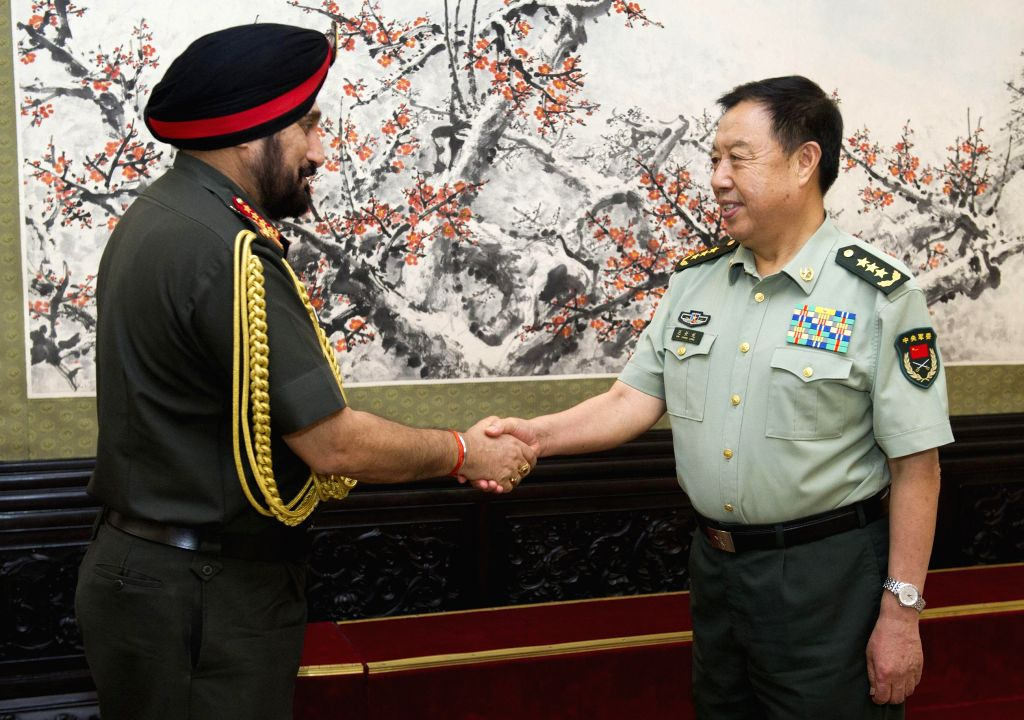 Chief of Army Staff, General Bikram Singh during a meeting with Vice Chairman of China's Central Military Commission Fan Changlong Bayi in Beijing, China on July 3, 2014.