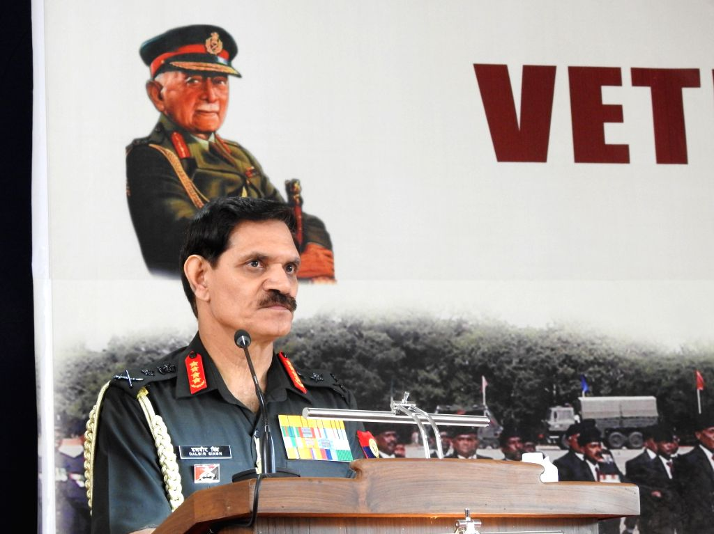 Chief of Army Staff General Dalbir Singh participating in functions at the veterans\' rally at Madikeri in Kodagu district of Karnataka on Saturday: IANS