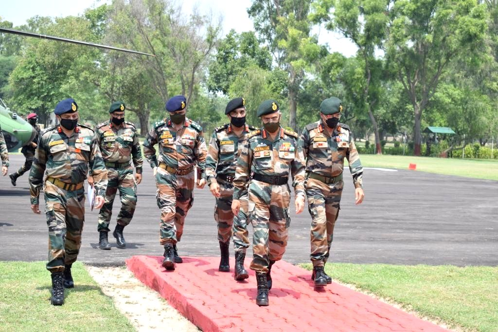 Chief of Army Staff, General MM Naravane visited formations of Vajra Corps at Amritsar and Ferozepur on July 14, 2020. During the visit the COAS along with Lieutenant General RP Singh, Army ... - General Sanjeev Sharma
