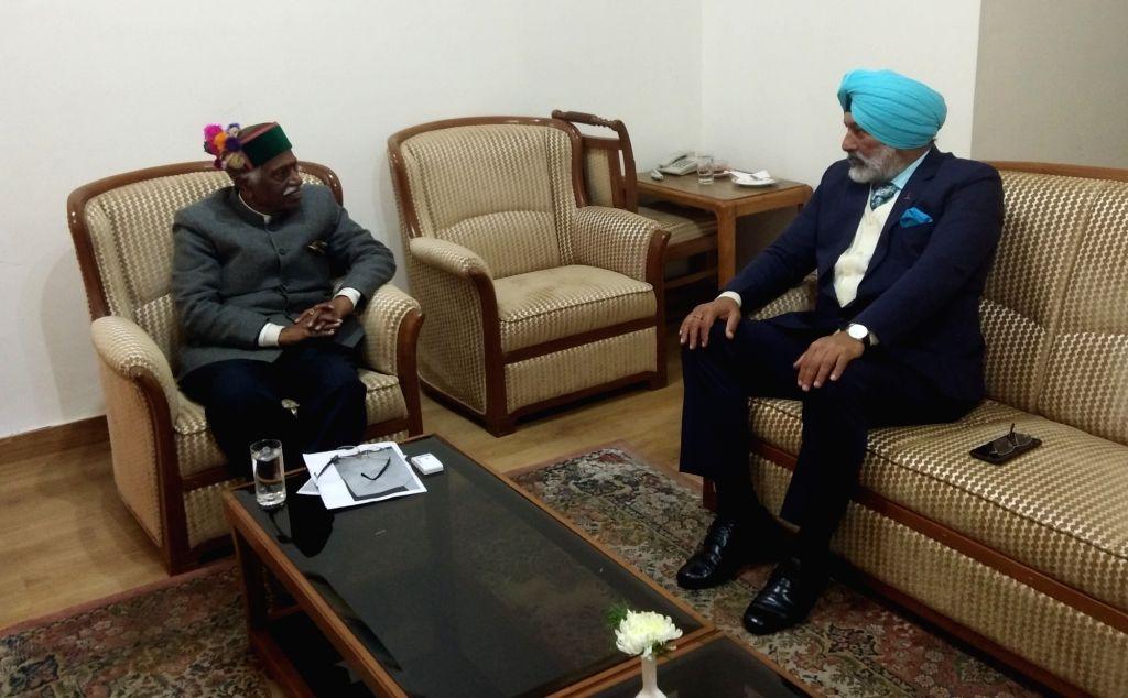 Chief of Staff Training Command of the Indian Army, Lieutenant General Gurpal Singh Sangha calls on Himachal Pradesh Governor Bandaru Dattatreya in Shimla on Jan 10, 2020.