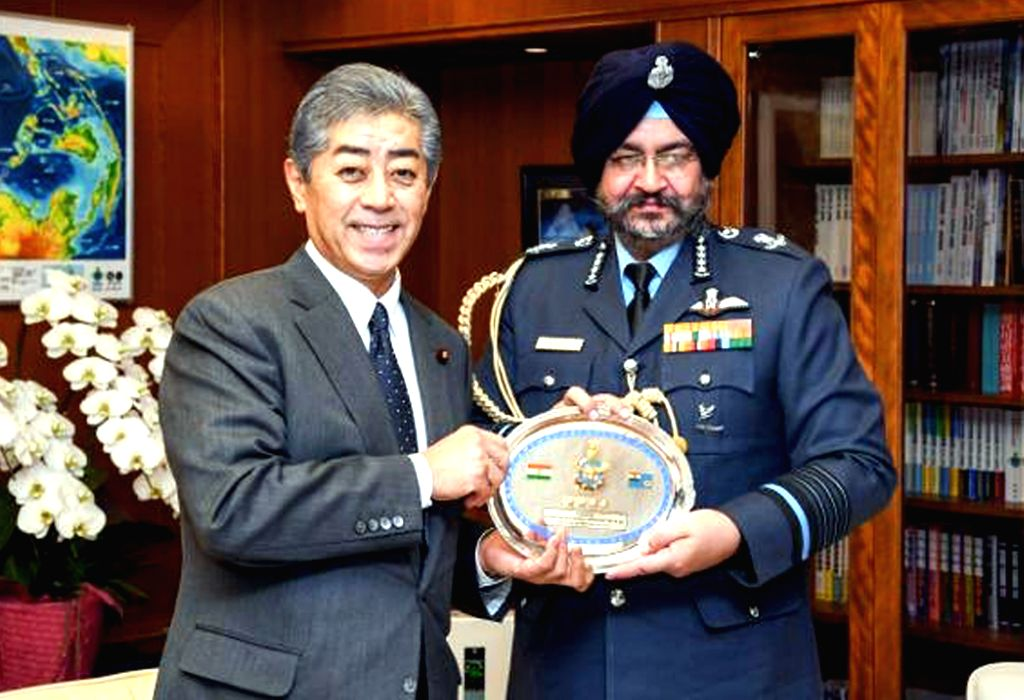 Chief of the Air Staff, Air Chief Marshal B.S. Dhanoa meets Japanese Defence Minister Takeshi Iwaya in Tokyo, Japan on Dec 11, 2018. - Takeshi Iwaya
