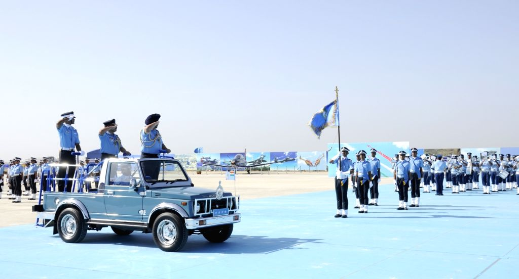 Chief of the Air Staff Air Chief Marshal B.S. Dhanoa reviews the Combined Graduation Parade at Air Force Academy, Dundigal, Hyderabad on 15 Jun 2019.