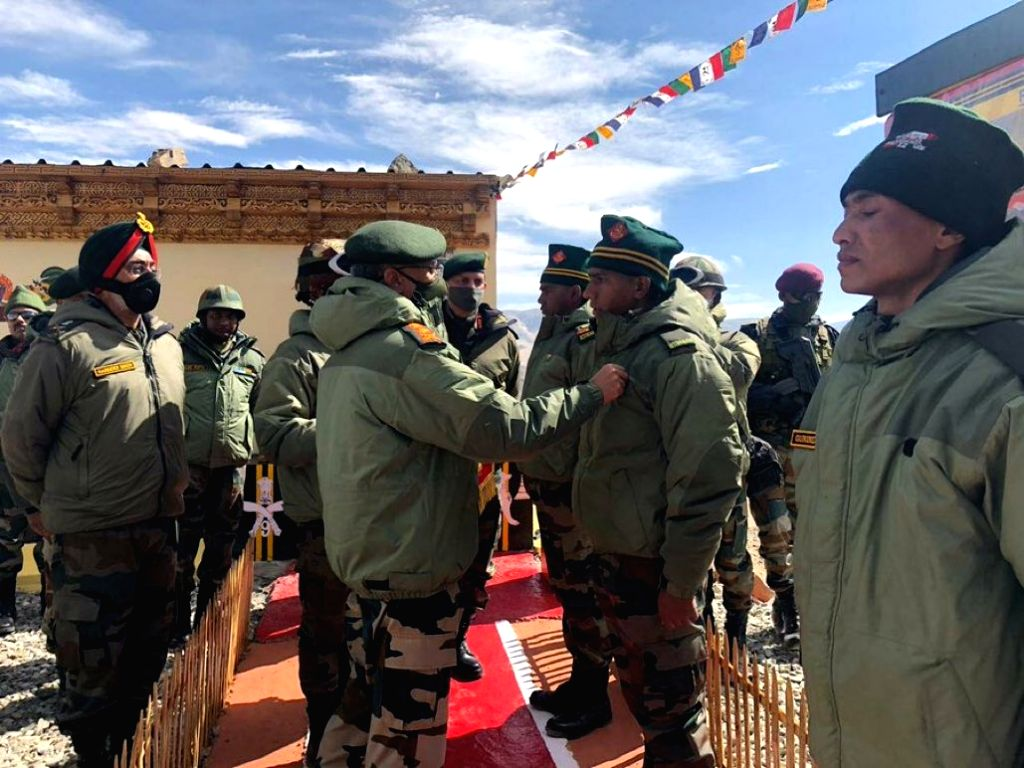 Chief of the Army Staff (COAS) General Manoj Mukund Naravane during his visit to the forward posts in Eastern Ladakh on June 24, 2020.